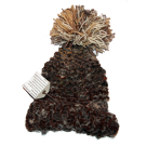 Mixed Brown Bobble Hat